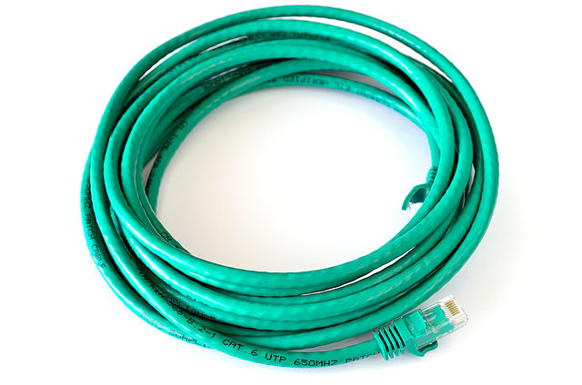 Cat 6 patch cable ethernet data cable with 8P8C modular connectors