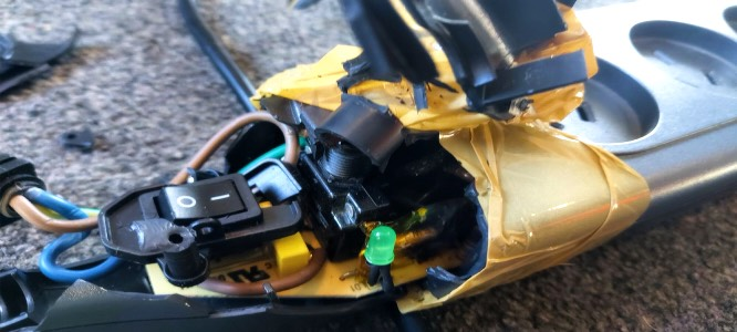 Electrical hazards in the workplace - underneath the packing tape